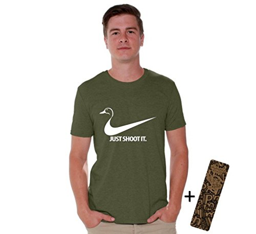 Awkwardstyles Just Shoot It T-shirt Cool Custom Tee Deer Duck Hunting Shirt L Military Green Duck Hunting T-shirt