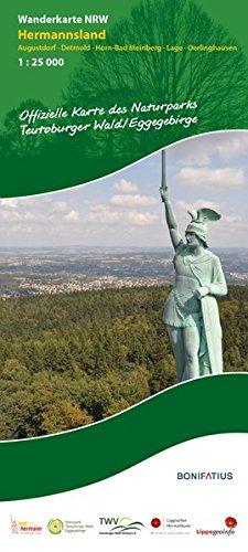 Wanderkarte NRW: Hermannsland: Augustdorf – Detmold – Horn-Bad Meinberg – Lage (Wanderkarten NRW)