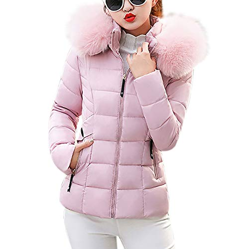 Price comparison product image BETTERUU Women Winter Warm Faux Fur Hooded Short Slim Cotton-Padded Jackets Coat