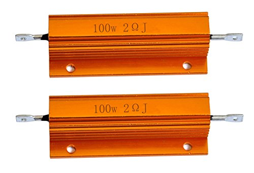 Cutequeen 2PCS 100W Watt 2 Ohm Aluminum Case Wirewound Chassis Mounted Resistor (Pack of 2) ()