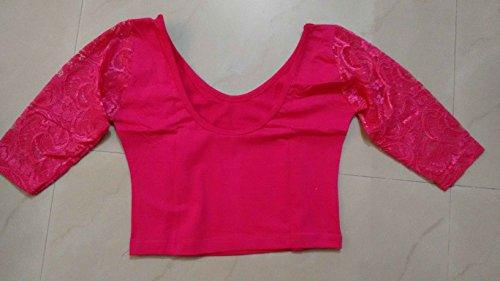 Dancing-Girl-Readymade-Blouse-Net-Sarees-Indian-Saree-Pink-Stitched-Blouse-Lycra-F7