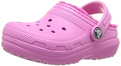 Crocs Unisex Kids Classic Lined Clog, Party Pink/Candy Pink, C10