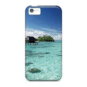 New Fashionable JosareTreegen Vcq20740QDPe Covers Cases Specially Made For Iphone 5c(bora Bora Resort)