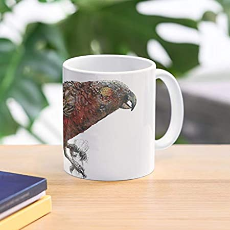 Nuevo árbol de alas aves silvestres zelanda pluma kaka loro mejor taza de café de cerámica personalizar