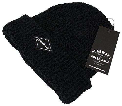 Headworx Diamond Patch, Gorro de Punto para Hombre Negro (Black BLK)