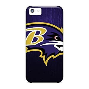 Protective Hard Phone Case For Iphone 5c With Unique Design Realistic Baltimore Ravens Pattern RudyPugh