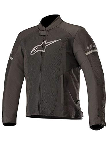 T-Faster Air Textile Street Motorcycle Jacket (XL, Black Black) ()