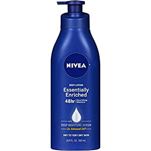 Nivea Lotion Essentially Enriched 16.9 Ounce Pump (Very Dry Skin) (500Ml) (3 Pack)