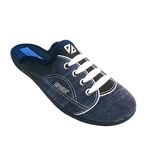 Sneaker pantoufle qui simule un sport Alberola en bleu
