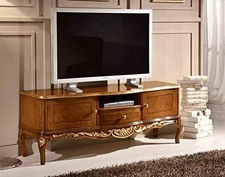 Porta Tv In Stile Classico.Dafne Italian Design Porta Tv Stile Classico Noce Cm L 150 P