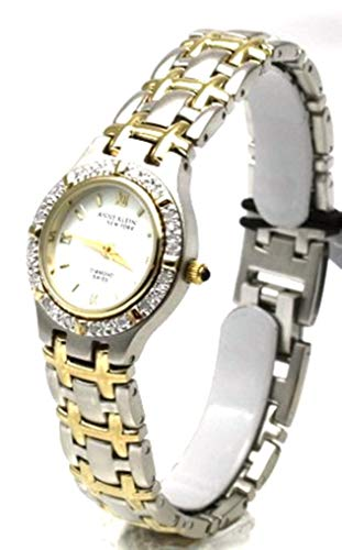 Anne Klein Swiss Two Tone Diamond Bezel Woman's Watch