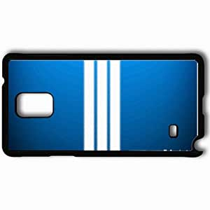 Personalized Samsung Note 4 Cell phone Case/Cover Skin Adidas Blue Fon Black