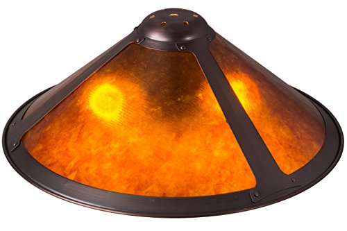Meyda Tiffany 21177 Van Erp Amber Mica Shade, 17'' W by Meyda Tiffany