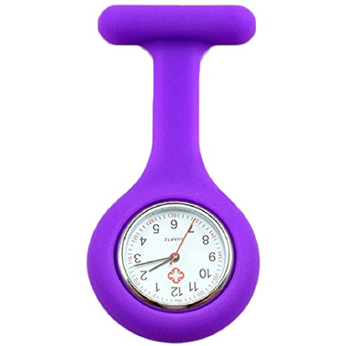 Baost Lovely Silicone Nurse Doctor Medical Watch Brooch Tunic Fob Watch - Purple from Baost