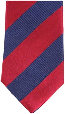 Knightsbridge Neckwear corbata azul marino/rojo 2-entonada rayado ...