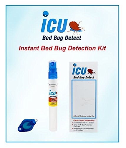 Instant Bed Bug Detection (Test) Kit, Instant and Convenient Method to Determine if Bed Bugs are present in your home, apartment or dorm; by ICU Diagnostics (Single Test) (Bug Bed Kit)