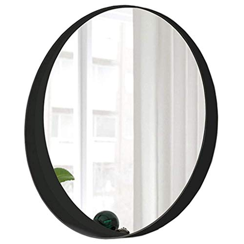 Round Wall Mirror, Modern Metal Frame, Hanging Vanity Mirror, Bedroom Decoration, Bathroom - Bathroom Tilting Oval Uses Mirrors