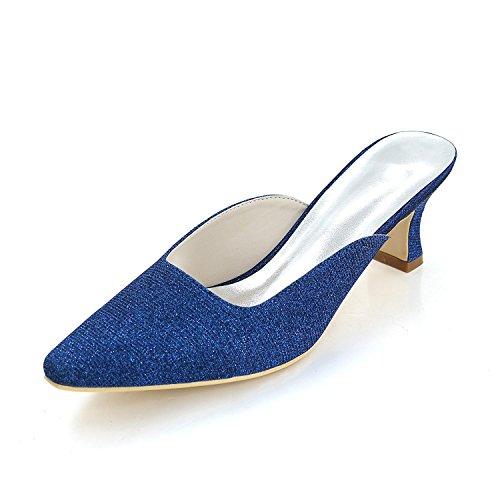 L@YC Female Slippers & Evening Club Summer Silk Wedding / Party Multi-Color / Large Size Blue psTcC2XWz
