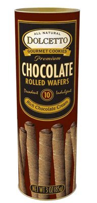 Dolcetto Chocolate Rolled Wafers 3 Oz. (Pack of 12)