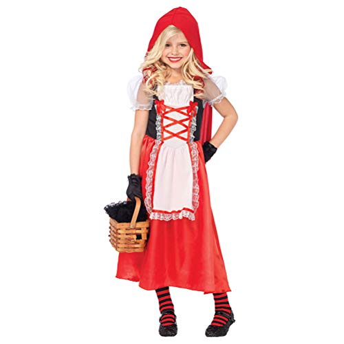 Zhhyltt Halloween Fancy Dress Child Red Riding Hood Performance Clothing Stage Suit