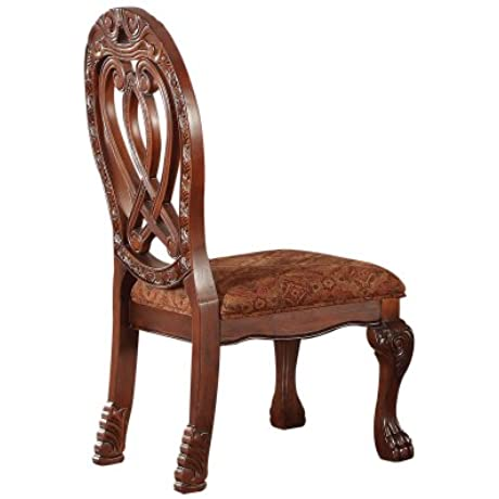 ACME 60268 Quinlan Side Chair Cherry Finish Set Of 2