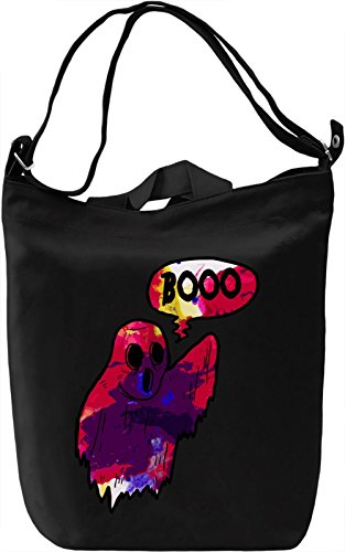 Booo Borsa Giornaliera Canvas Canvas Day Bag| 100% Premium Cotton Canvas| DTG Printing|