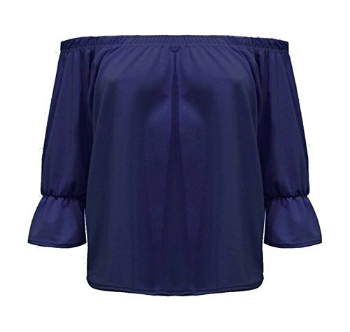 Señoras tapa gitano de hombro - estilo bardot Navy blue
