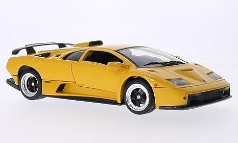 Lamborghini Diablo Gt Metalico Amarillo Modelo De Auto Modello