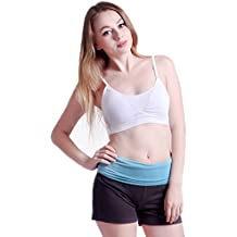 HDE Women's Padded Sports Bra Wire Free Workout Layering Crop Top