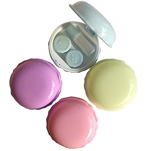 Mirror Contact Lenses (Petmall 1PCS Mini Contact Lens Case Travel Kit Easy Carry Mirror Container Box Holder OFFICE-365)
