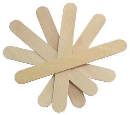 JOVANA Large Wide Wood Wax Spatula Applicator 6'' x 3/4'' 500 pack