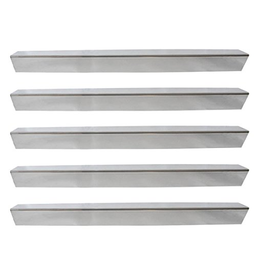 Onlyfire Gas Grill Replacement Stainless Steel Flavorizer Bars/Heat Plate/Heat Shield for Weber Genesis 300 Series Grill (Side-mounted Panel), Set of 5, 24 1/2'' x 2 2/5'' x 2 2/5''