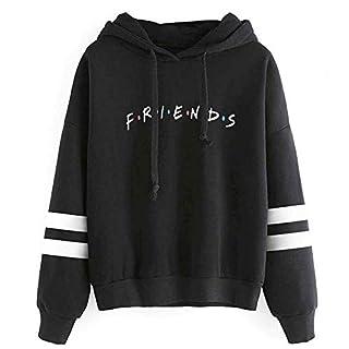 Fashion Casual Friend Hoodie Sweatshirt Friend TV Show Merchandise Women Graphic Tops Hoodies Sweater Funny Hooded Pullover (XL, Friend Hoodie Black)