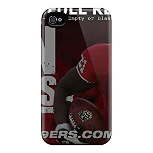 Iphone 4/4s LUy11958Avcb Allow Personal Design Lifelike San Francisco 49ers Pattern Scratch Protection Hard Phone Covers -MansourMurray by ruishername