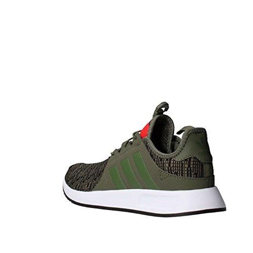 adidas Unisex-Kinder X_PLR J Fitnessschuhe grün (Stmajo / Stmajo / rot)