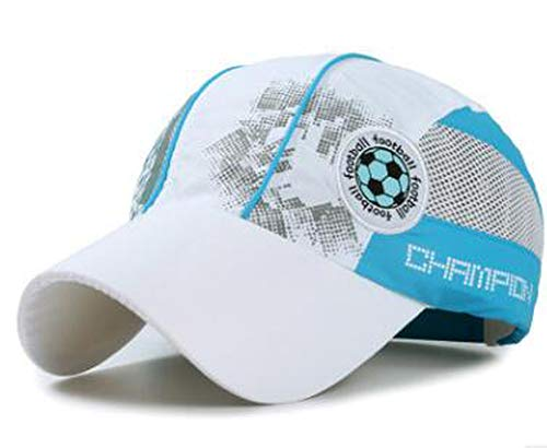 LONIY Summer Children Fast Dry Baseball Cap with Embroidery Football Logo Adjustable Snapback Outdoor Waterproof Hat