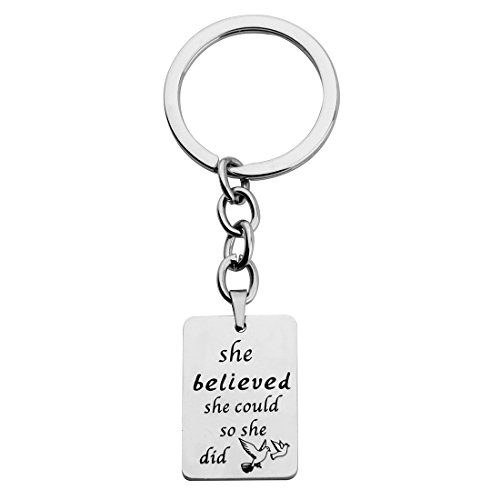 KUIYAI Believed Inspirational Necklace Keychain