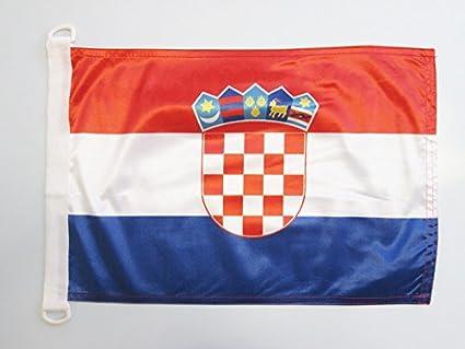 AZ FLAG Bandera Nautica de Croacia 45x30cm - Pabellón de ...