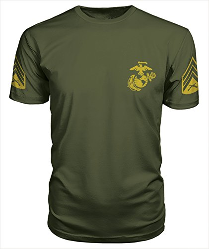 US Marine Corps Sergeant Pt T-Shirt (Small, Military Green) (Women Army Uniforms)