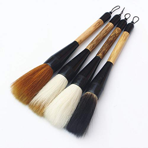 - WellieSTR 4pcs/Set Chinese Calligraphy Brush Pen Mixed Hairs Hopper-Shaped Oil Painting Brush Art Paint Supplies Stationary