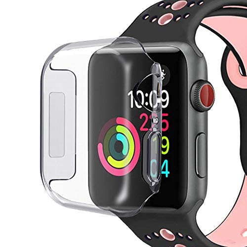 Alotm Compatible with Apple Watch Series 4 40mm Case, Clear Soft TPU Lightweight Protective Bumper Case Cover Scratch-Resistant Shell Fit with 40mm Apple Watch Series 4