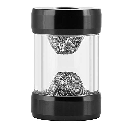 Pokerty Cool Water Filter, G1/4 Inner Thread Water Cooling Filter with Funnel Shape and Fine Filter Screen for Computer Cooling System (Black)
