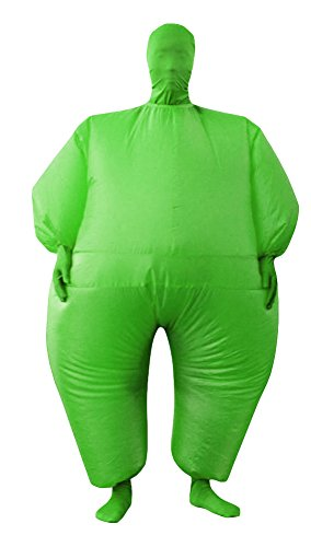 RoseSummer Adult Inflatable Full Body Jumpsuit Cosplay Costume Halloween Funny Fancy Dress Blow Up Party Toy (green)