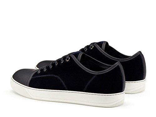 Lanvin Sneakers da Uomo in Velluto Blu Scuro - Codice Modello: FM SKDBB1 TVEL A15 Dark Blue Blu scuro