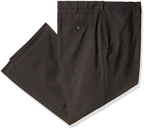 Haggar Tonal Plaid Classic Fit Plain Front
