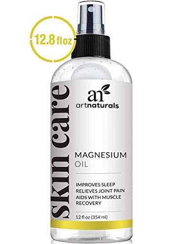 ArtNaturals Pure Magnesium Oil Spray - (12 Fl Oz / 355ml) - Essential Natural Deodorant - Helps Reduces Migraines, Sore Muscle, Joint Relief, Stress, Anxiety, Period Pains and Sleep Aid