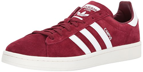 adidas Originals  Men's Campus Sneaker, Collegiate Burgundy/White/Chalk White, 10.5 M US