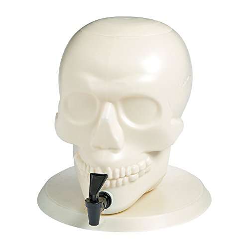 2-gallon Skull Shaped Plastic Drink Dispenser (Bases De Rap Halloween)