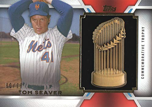 2014 Topps Update Baseball World Series Championship Trophy #WSCT-TS Tom Seaver 80/99 New York Mets -
