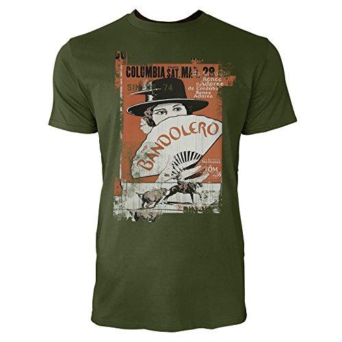 SINUS ART® Bandolero Herren T-Shirts Armee grünes Cooles Fun Shirt mit tollen Aufdruck
